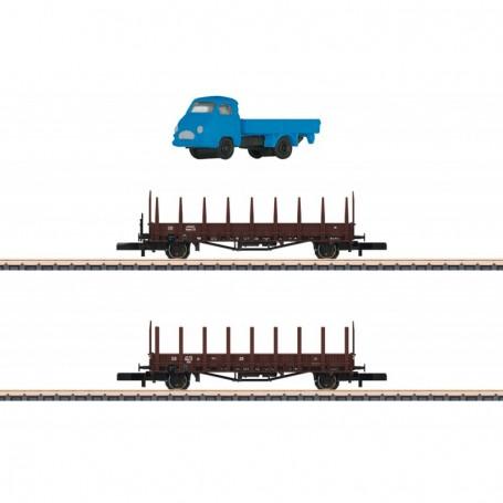 Märklin 82132 Vagnsset med 2 stolpvagnar Rmms 33 typ DB
