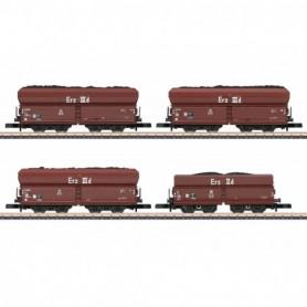 Märklin 86307 Vagnsset med 4 koltransportvagnar typ DB