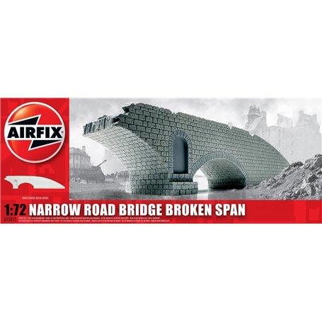 Narrow Road Bridge Broken Span, färdigmodell i resin, omålad