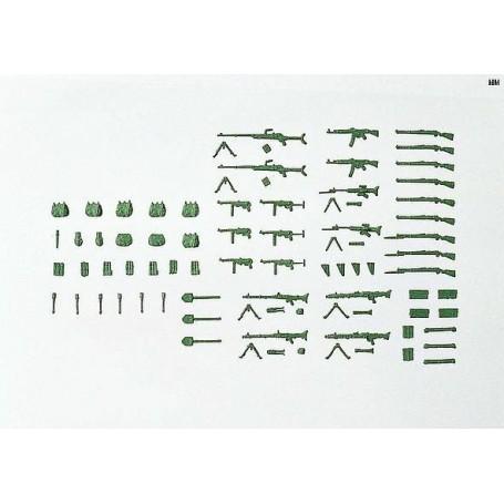"""Preiser 18358 Vapen, ammunition, granater m.m., """"Wehrmacht"""" Tyskland 1939-45"""
