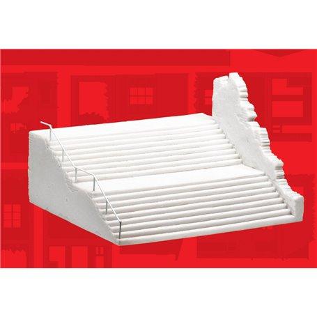 European City Steps, färdigmodell i resin, omålad