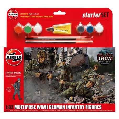 "Airfix 55210 WWII German Infantry Multipose Starter Set ""Gift Set"""