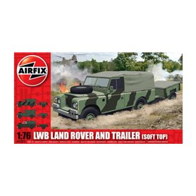 LWB Land Rover and Trailer (Soft Top)