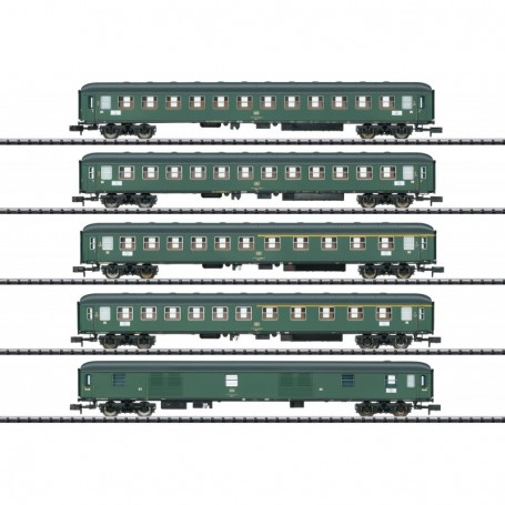 Trix 15219 Vagnsset med 5 personvagnar D360 typ DB