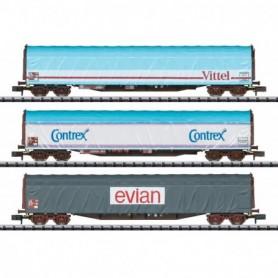 Trix 15375 Vagnsset med 3 godsvagnar Rils typ SNCF 'Vittel|Evian|Contrex'