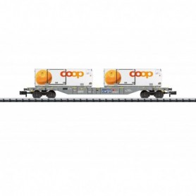 Trix 15469 Containervagn typ SBB|CFF|FFS med last av 2 containers 'Coop'