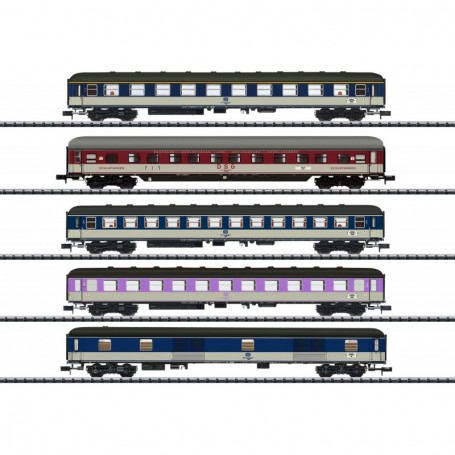 Trix 15473 Vagnsset med 5 personvagnar D730 typ DB