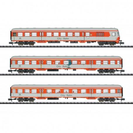 Trix 15474 Vagnsset med 3 personvagnar 'City Bahn' typ DB