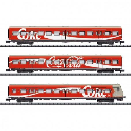 Trix 15708 Vagnsset med 3 personvagnar 'S-Bahn' typ DB 'Coca Cola'
