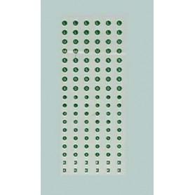 "TL 1304 Dekalark, bokstäver, gröna diverse bokstäver ""G,L,U,S,K"""