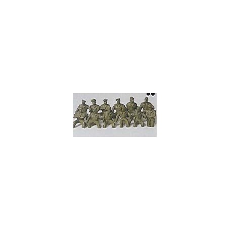 Preiser 18366 Militära figurer, förare, omålade