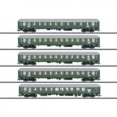 Trix 23132 Vagnsset med 4 personvagnar 'D96 Isar-Rhône' typ DB - Set 1 'Trix Club 2019'