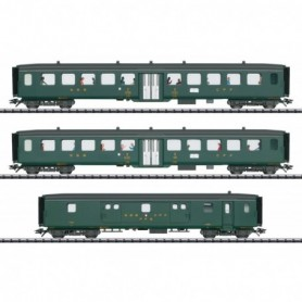 Trix 23133 Vagnsset med 3 personvagnar 'D96 Isar-Rhône' typ DB - Set 2 'Trix Club 2019'