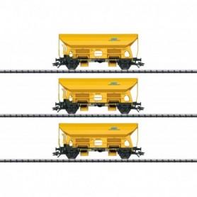 Trix 24168 Vagnsset med 3 tippvagnar Fcs typ DBG 'Bahn Gleisbau GmbH'