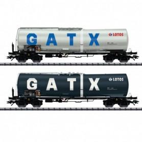 Trix 24213 Vagnsset med 2 tankvagnar typ Zans 'GATX'