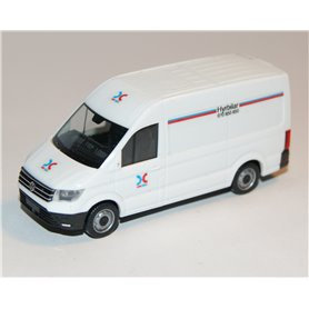 "AHM AH-744 VW Crafter box high roof, white ""OK Q8"""