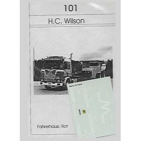 """TL 101 Dekalark, specialdekaler för tungtransport """"H.C. Wilson"""", Scania 143 Topline"""