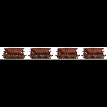 Roco 67076 Vagnsset med 4 malmvagnar typ SJ Set 2