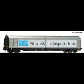 """Roco 76486 Godsvagn med skjutdörrar Habbins """"Nordisk Transport Rail"""""""