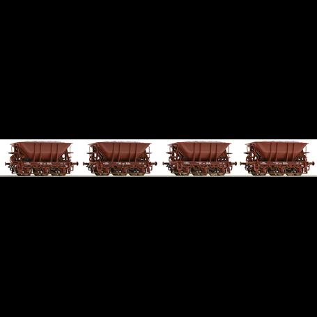 Roco 67075 Vagnsset med 4 malmvagnar typ SJ Set 1