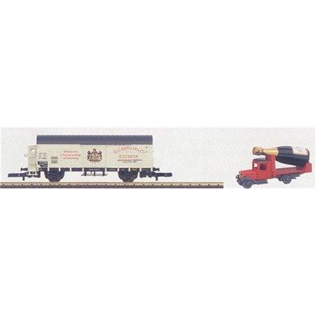"""Märklin 80013 Museumsvagn 2002 Godsvagn """"G.C. Kessler & Co"""", medföljer lastbil"""