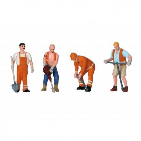 LGB 53003 Sats med 4 figurer 'Arbetare'