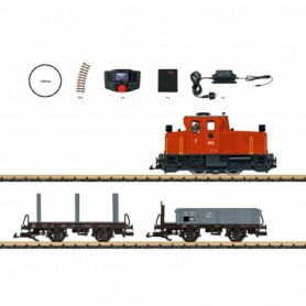LGB 70231 Freight Train Starter Set, 230 Volts, with a Mobile Station