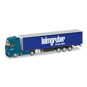 "Herpa 066785 Mercedes-Benz Actros curtain canvas semitrailer ""Leimgruber"" (CH)"