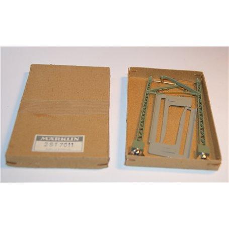Märklin 7011 Luftledningsstolpe för metallbro, 2-pack, kartongkulör kan variera