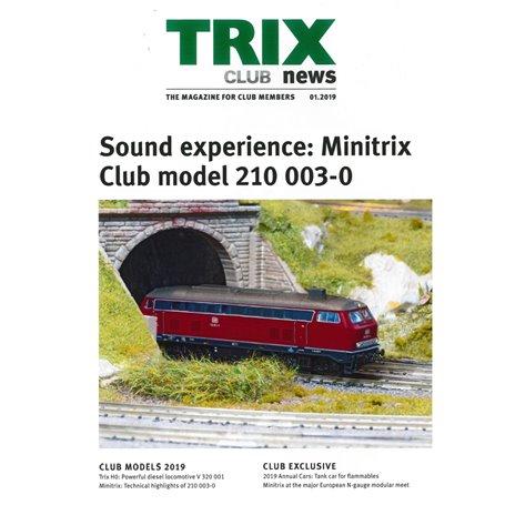 Trix Club 01/2019, magasin från Trix, 23 sidor i färg, engelska