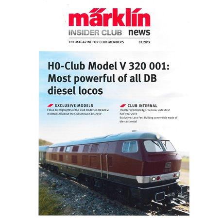 Märklin Insider 01/2019, magasin från Märklin, 23 sidor