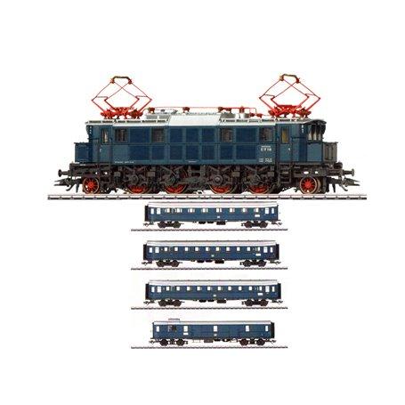 """Trix 22496-42228DC Tågset """"Nürnberg Mässa 2019"""" Ellok och 4 personvagnar typ DB"""