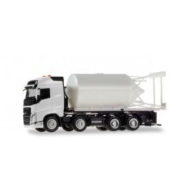 Herpa 013604 Herpa Minikit. Volvo FH Gl. bulk truck 4-axle white