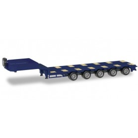 Herpa 076388-008 Goldhofer low boy trailer 5-axle with enclosed chutes, cobalt blue