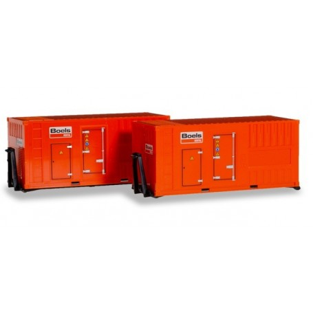 Herpa 076890 Accessory 2 x 20 ft. power unit 'Boels'
