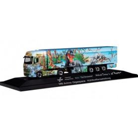 Herpa 121934 Mercedes-Benz Actros Gigaspace refrigerated box Trailer 'Herpa Weltgeschichte Nr. 5.1, Die Dinosaurier'