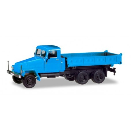 Herpa 308670 IFA G5 3-way discharge skip, blue (modified cabin and new construction)