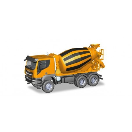 Herpa 310000 Iveco Trakker 6x6 concret mixer truck, orange