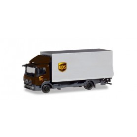 Herpa 310208 Mercedes-Benz Atego box truck with liftgate 'UPS'