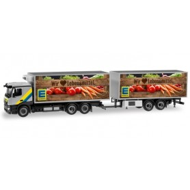 Herpa 310246 Mercedes-Benz Actros Calssicspace refrigerated box Trailer 'EDEKA'