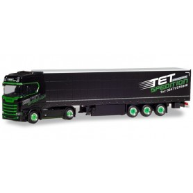 Herpa 310253 Scania CR 20 HD curtain canvas semitrailer 'TET Spedition'