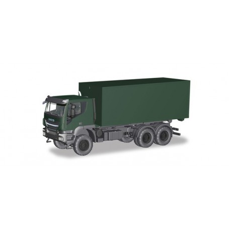 Herpa 746519 Iveco Trakker 6x6 roll off Container 'German Federal'
