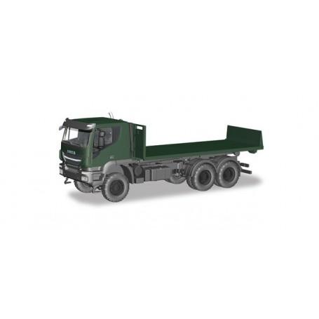 Herpa 746526 Iveco Trakker 6x6 roll off flat 'German Federal'