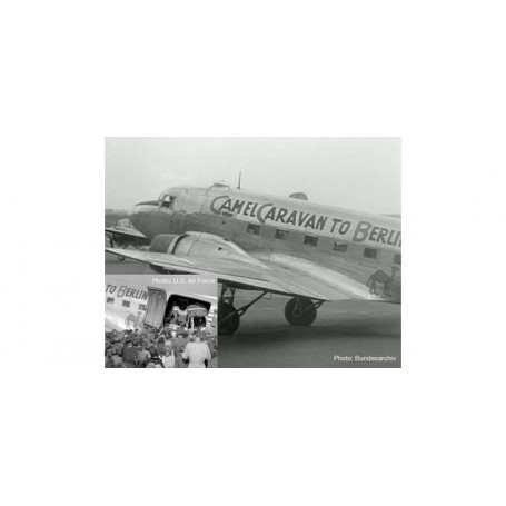 Herpa 612302 Flygplan U.S. Army Air Forces Douglas C-47A Skytrain - 86th Fighter Wing, 525th Fighter Squadron, Neubiberg AB ?...
