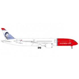 Herpa 530170-001 Flygplan Norwegian Boeing 787-9 Dreamliner – G-CKNA 'Freddie Mercury'