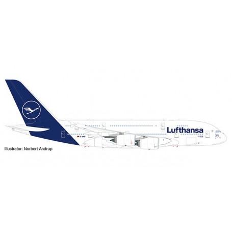 Herpa 533072 Flygplan Lufthansa Airbus A380