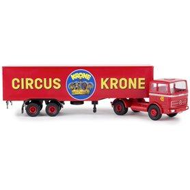 """Brekina 81055 Bil & Trailer Mercedes Benz LPS 1620 """"Cirkus Krone"""""""