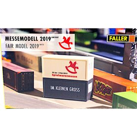 "Faller 201901 Containers ""Messemodell 2019 Nürnberg"""