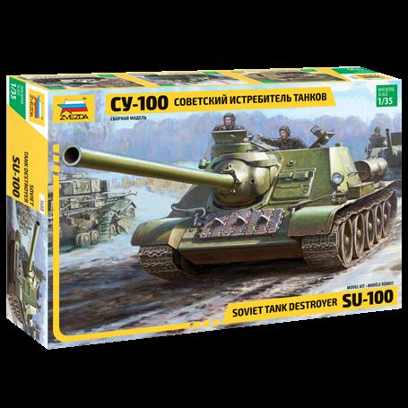 Zvezda 3688 Tanks Soviet Tank Destroyer SU-100