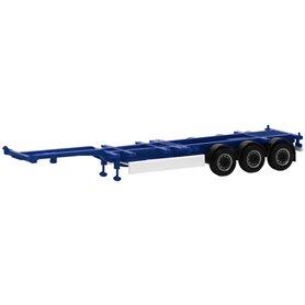 Trailer 40/45ft Highcube, 3-axlig, blå (Herpa)